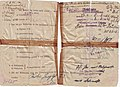 Entlassungsschein Maria Fischer, Frauenstrafgefängnis Leipzig-Kleinmeusdorf, 20.4.1945, Original, Rückseite.jpg