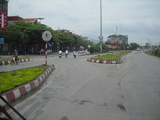 Uông Bí City in North-East, Vietnam