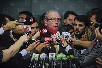 Impeachment of Dilma Rousseff -  Eduardo Cunha stating that the Chamber of Deputies had agreed to open the proceedings, on 2 December 2015.