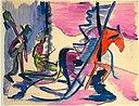 Ernst Ludwig Kirchner - Schlitten im Nebel - 1928-29