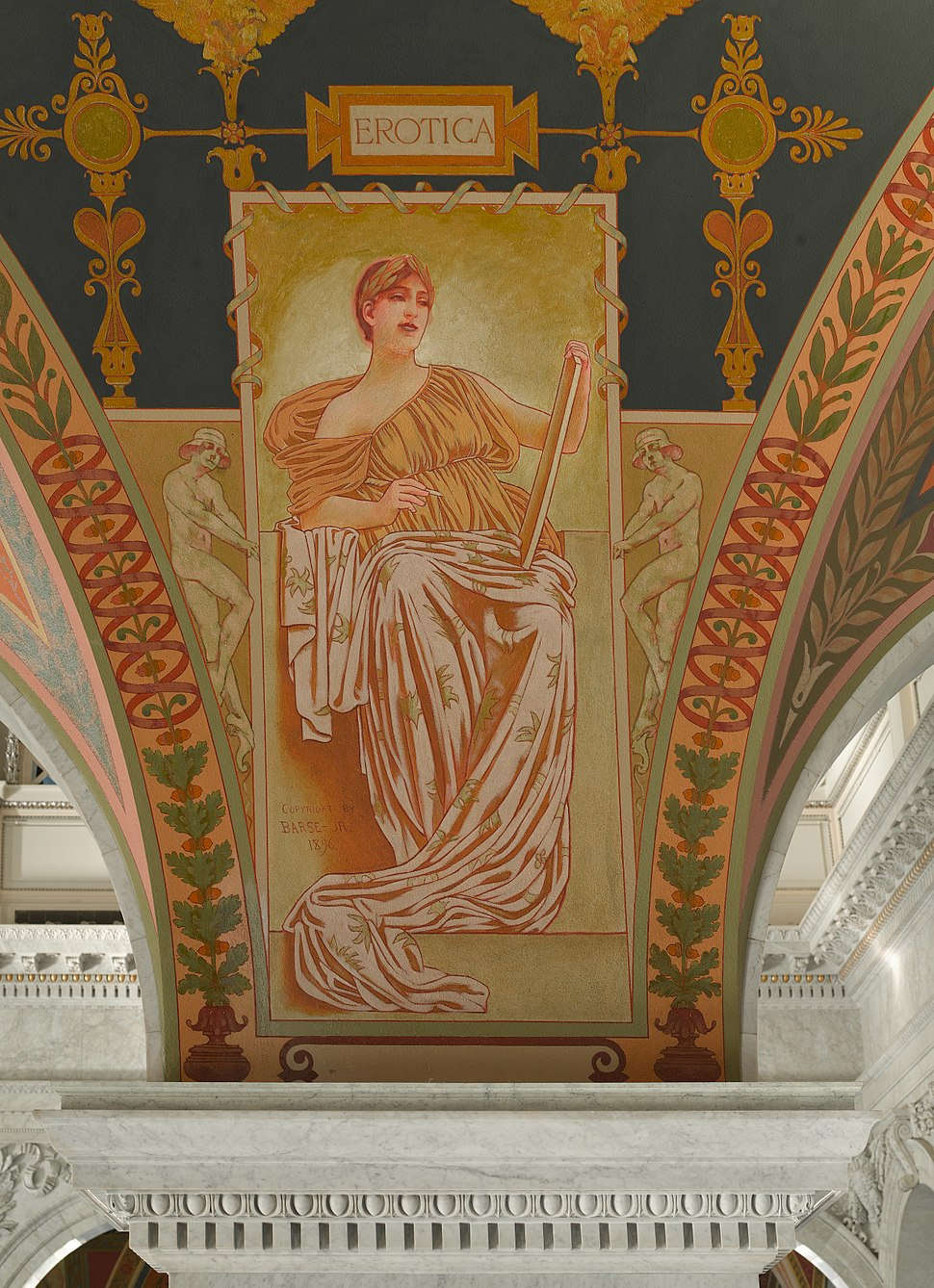 mural painting titled Erotica, by George Randolph Bars