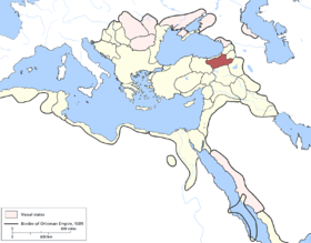 Location of Erzurum Eyaleti