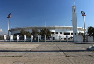 1991 Copa América - Image: Estadio Nacional de Chile vista desde Av. Grecia