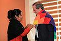 Esther Morales, hermana del presidente de Bolivia Evo Morales se reunió con el Canciller Ricardo Patiño (8001319523).jpg