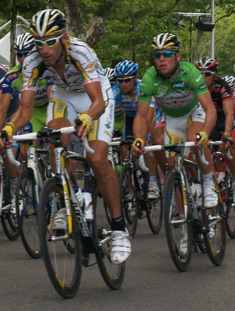 Mark Cavendish - Team-mates George Hincapie and Cavendish during stage three of the 2009 Tour de France