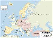 Evropa v roce 1914.