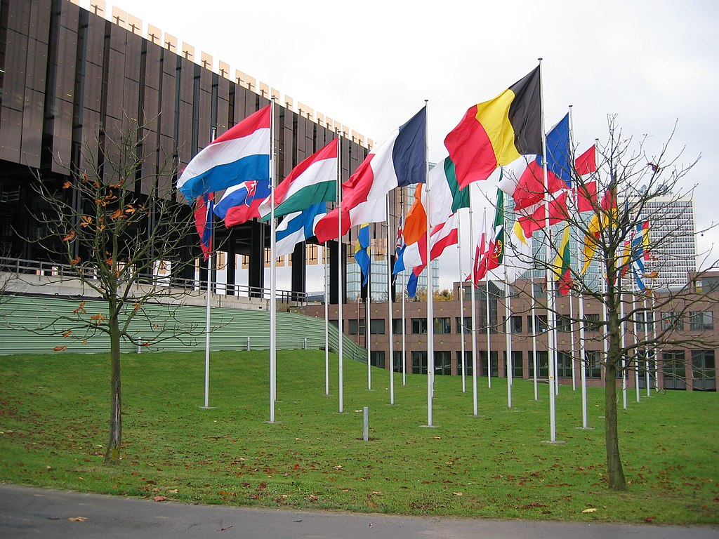 European Court of Justice (ECJ) in Luxembourg with flags 0017 (1674479483)