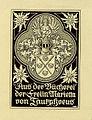 Ex Libris Marietta von Tautphoeus von Rheude 1917.jpg