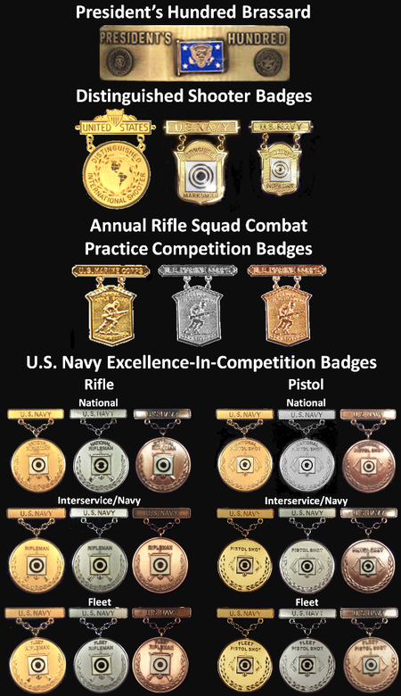 Example-USN Marksmanship Competition Badges