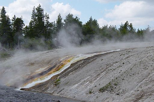 Excelsior Geyser Falls in Yellowstone