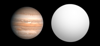 COROT-6b - Size comparison of COROT-6b with Jupiter.
