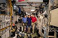 Expedition 58 crew gathers inside the Zvezda service module.jpg