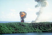 Explosion2 during Grenada invasion 1983