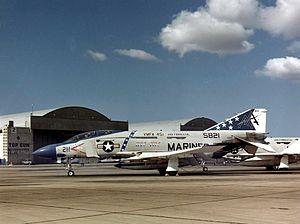 VMFAT-501 - An F-4J of VMFA-451 at Naval Air Station Miramar, in 1976.