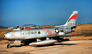 494th Fighter Squadron - Image: F 86f 35 na 53 1222 494th 1955