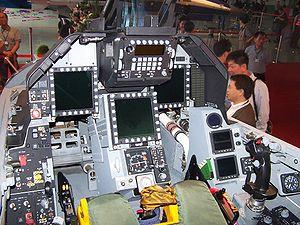 F-CK-1C/D cockpit view