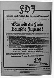 FDJ Plakat - Gründung der FDJ im Kreis Chemnitz
