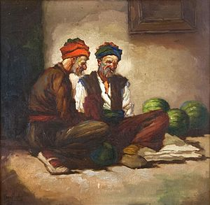 Emanuel Salomon Friedberg-Mírohorský - Melon Vendors
