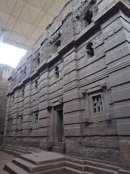 File:Facade of Bet Abba Libanos Rock-Hewn Church - Southeastern Cluster - Lalibela - Ethiopia - 01 (8729958247).jpg