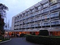 Facade of Hotel des Mille Collines - a.k.a. Hotel Rwanda - Kigali - Rwanda.jpg