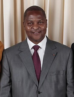 Faustin-Archange Touadéra Prime Minister of Central African Republic
