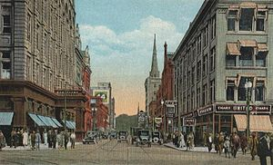 History of Syracuse, New York - Fayette Street c. 1920