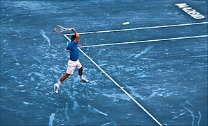 Madrid Open (tennis) - In 2012 blue clay was used for the first time in professional men's tennis