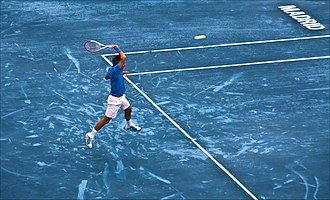 Madrid Open (tennis) - In 2012 blue clay was used for the first time in professional tennis