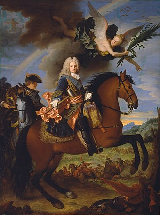 Jean Ranc - Equestrian portrait of Philip V of Spain (museo del Prado)