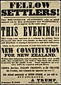 Fellow settlers! the mountebank statesmen who so much amused you... their new constitution for New Zealand. (Poster). February 3, 1851. (5015577865).jpg