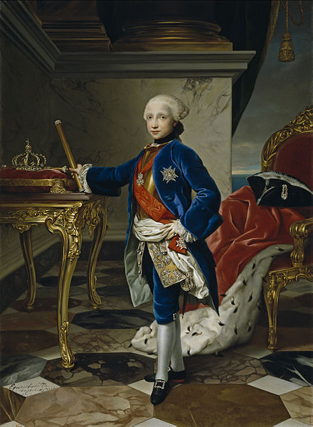 Ferdinand in 1760, at age nine. Ferdinand IV at age nine.jpg