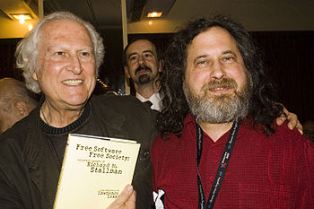 Fernando %27Pino%27 Solanas and Richard Stallman