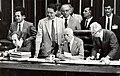 Fernando Henrique Cardoso, Ulysses Guimarães, Bernardo Cabral e Humberto Lucena durante a Assembleia Nacional Constituinte.jpg