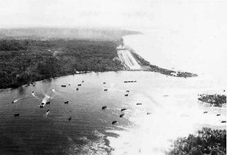 Battle of Koromokina Lagoon - Fighter strip at Torokina, December 1943