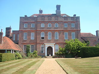 Finchcocks - View of the rear of the house, from the garden