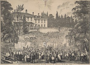 Victoria Day - Victoria Day, 1854; crowds gather outside Government House in Toronto, Canada West (now Ontario)