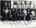 First car and passengers through Boylston Street Subway, October 1914.jpg