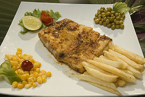 Fish and chips - Wikipedia, the free encyclopedia