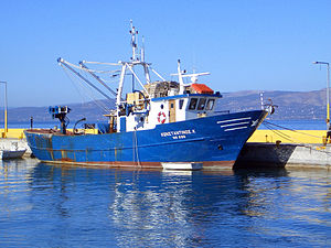 Fishing Boat in Oropos, Greece