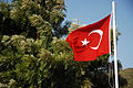 Flag of Turkey. Marmaris harbor, Muğla Province, southwest Turkey, Mediterranean.jpg