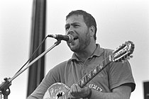 Flickr - Government Press Office (GPO) - Yehuda Poliker singing at the Jewish Arab Peace Rally in Neve Shalom.jpg