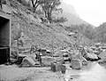 Flood damage to rock wall on Virgin River, a quarter mile south of Court of Patriarchs. Record of damage or defective (7164d3d2d4594cd697d3e91d045126b4).jpg