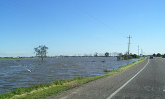 Hunter River (New South Wales) - Image: Flooding at Nelsons Plains (2007) 1