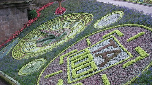 Floral Clock, Princes Street Gardens, Edinburgh, Scotland