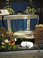 Floral display by side altar at St Faith's Havant - geograph.org.uk - 863708.jpg