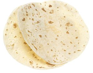 two flour tortillas