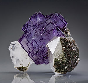 Yizhang County - Fluorite mineral specimen from the Yaogangxian Mine, Yizhang County.
