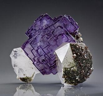 Yizhang County - Fluorite mineral specimen from the Yaogangxian Mine, Yizhang County.