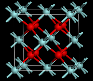 Ceria-zirconia - Fluorite-like  crystal structure of ceria and cubic zirconia