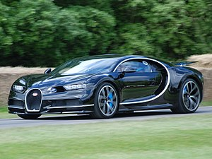 A photo of the 2016 Bugatti Chiron.